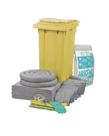 Zestaw mobilny Wheely 120, sorbenty uniwersalne, granulat mineralny Multisorb, 84.9 l
