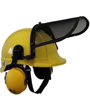 Hełm ochronny dla leśników TYTAN typ HOT 101.00 - DRWAL