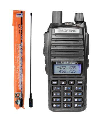 RADIOTELEFON Baofeng UV-82 PTT + NAGOYA NA-771 PMR
