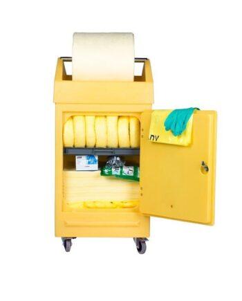 Zestaw mobilny POLI (PDSD), sorbenty chemiczne, 222 l